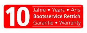 10 Jahre Garantie Versprechen vom Bootsservice Rettich